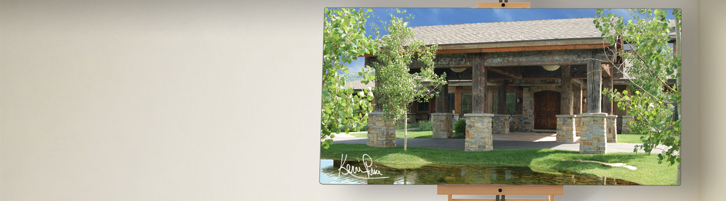 Kevin Price Designs - Old Ranch Road in Park City, Utah Entryway Pond