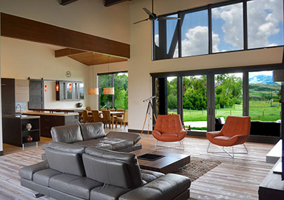 Kevin Price Designs - Huntsville Home Living Room with a View